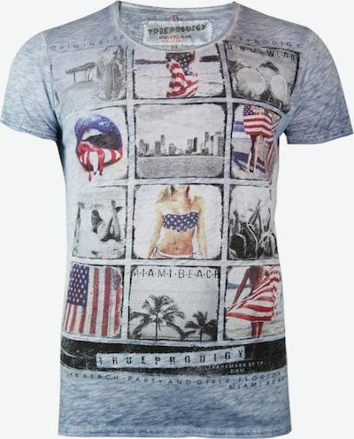 trueprodigy T-Shirt 'Miami Beach Memories' in blaumeliert / mischfarben, Produktansicht