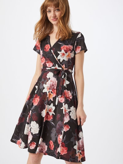 Mela London Kleid in schwarz: Frontalansicht