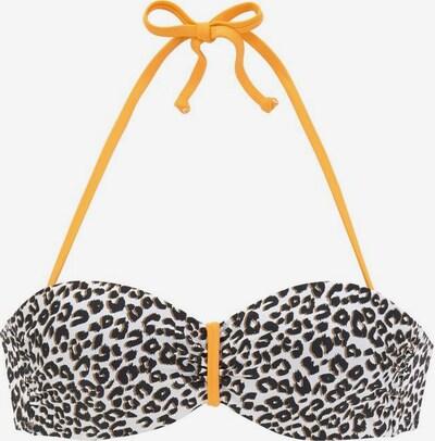 BUFFALO Bikinitop 'Kitty' in beige / braun / gelb, Produktansicht