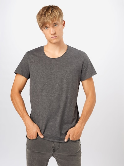 JACK & JONES T-Shirt 'Bas' in dunkelgrau: Frontalansicht