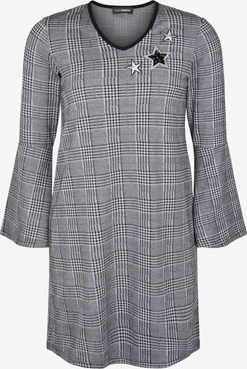 Doris Streich Strick-Tunika im Glencheck-Muster in schwarz / weiß, Produktansicht