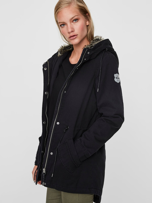 vero moda winter parka in schwarz about you. Black Bedroom Furniture Sets. Home Design Ideas
