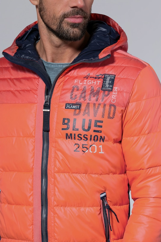 Steppjacke David OrangeAbout Camp You In 80OvNwnm