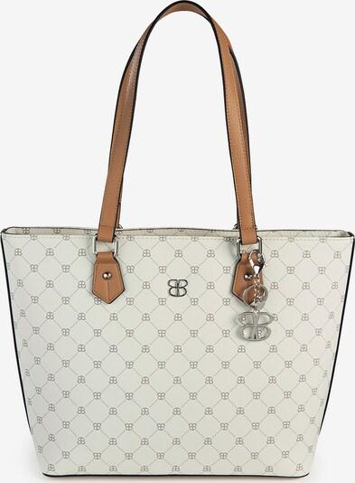 Basler Handtasche in braun / wollweiß, Produktansicht