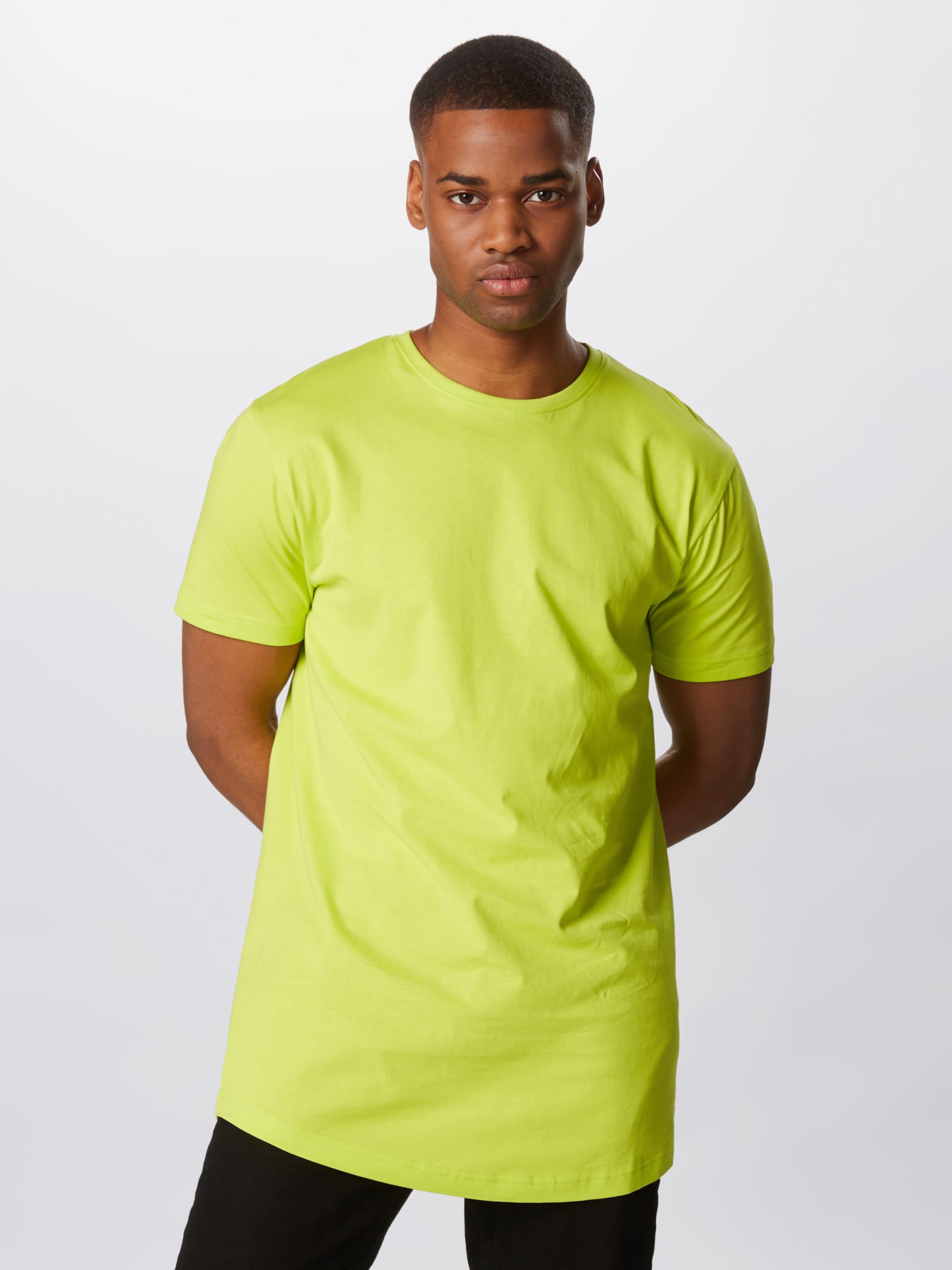 Urban Classics T-Shirt in zitronengelb Abgesteppter Saum/Kante TB638-01494-0058