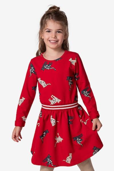 myToys-COLLECTION Kleid in rot / schwarz / weiß: Frontalansicht