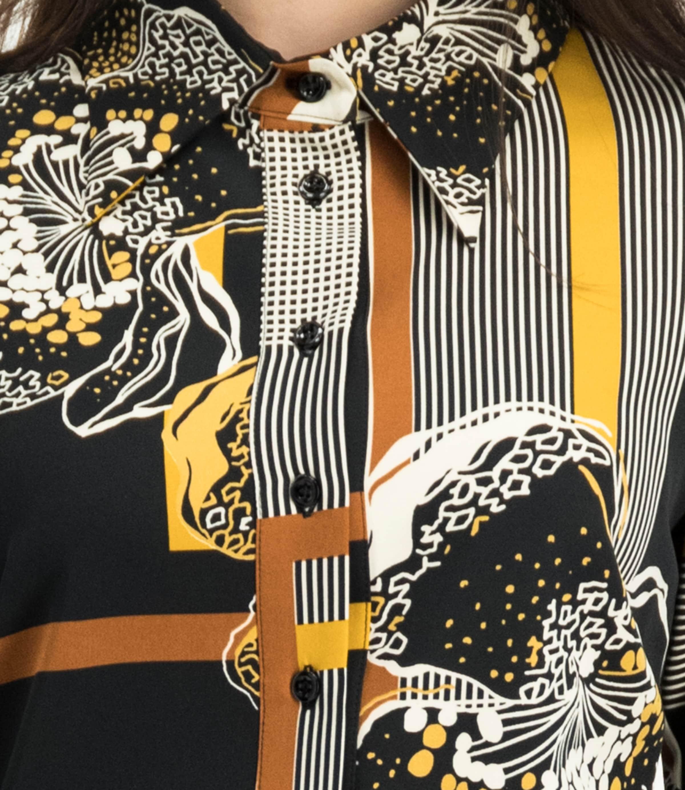 OrangeSchwarz Weiß Nicowa In Kleid 'itanja' UzpGqMSV
