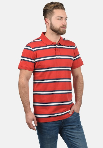 BLEND Poloshirt 'Pique' in rot: Frontalansicht