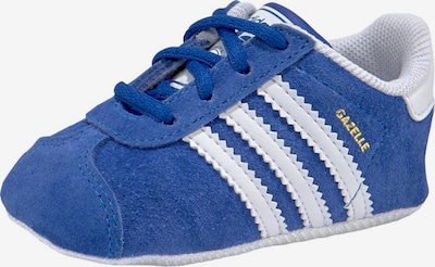 ADIDAS ORIGINALS Chaussons 'GAZELLE CRIB' en bleu / blanc, Vue avec produit