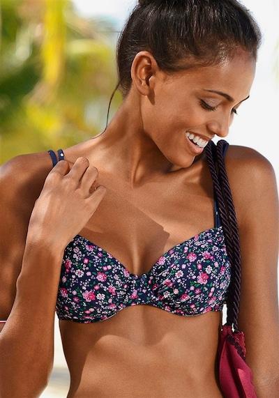 BUFFALO Bikini-Top 'Evi' in navy / pink / weiß, Modelansicht