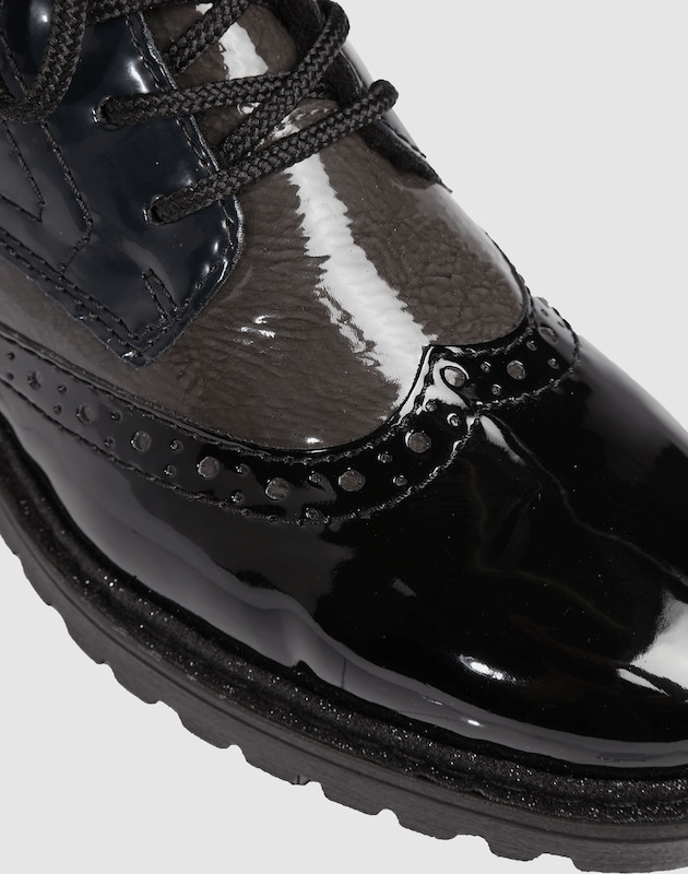 RIEKER Schnürstiefel mit Lack-Optik Günstige und langlebige Schuhe