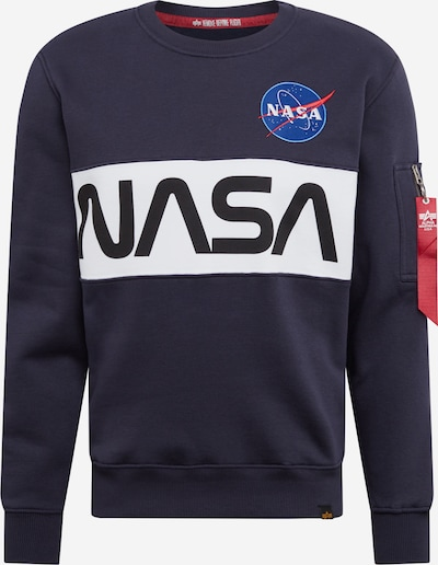 ALPHA INDUSTRIES Mikina 'Nasa Inlay' - modré, Produkt