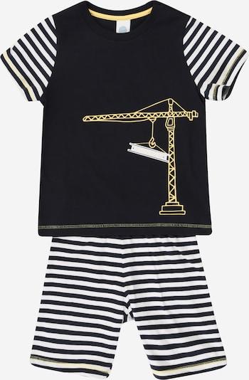 SANETTA Nachtkledij in de kleur Navy / Geel / Wit, Productweergave