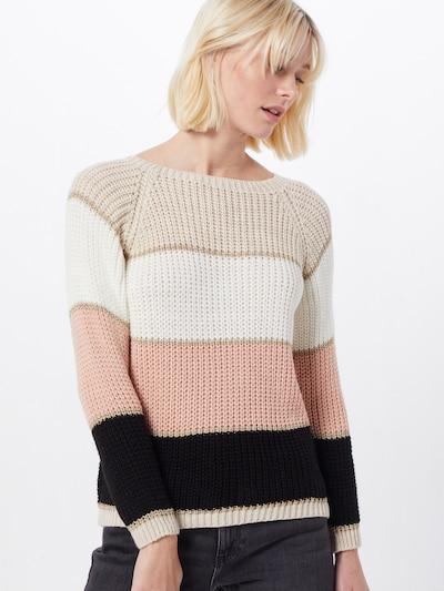 Hailys Pullover 'Missy' in beige / rosa / schwarz / wollweiß, Modelansicht