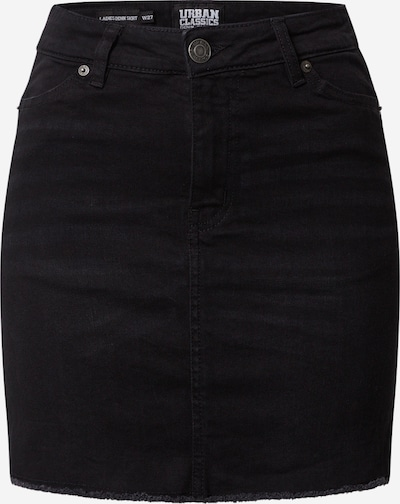 Urban Classics Rock 'Ladies Denim Skirt' in black denim, Produktansicht