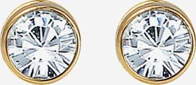 ELLI Ohrstecker in gold / transparent, Produktansicht