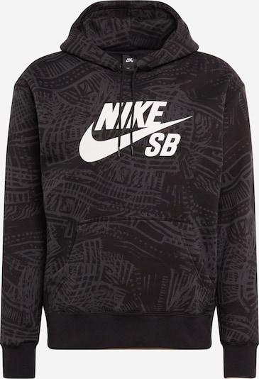 Nike SB Sweatshirt in anthrazit / schwarz / weiß, Produktansicht