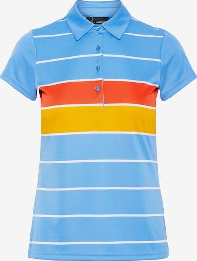 J.Lindeberg Poloshirt 'Alissa' in blau / orange, Produktansicht