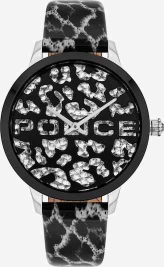 POLICE Uhr in schwarz / silber, Produktansicht