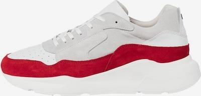 JACK & JONES Baskets basses en rouge / blanc, Vue avec produit