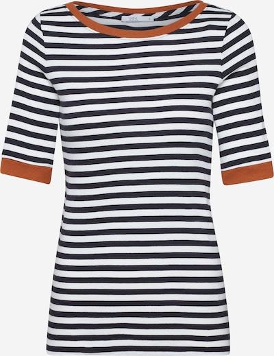EDC BY ESPRIT T-Shirt in braun / schwarz / weiß, Produktansicht