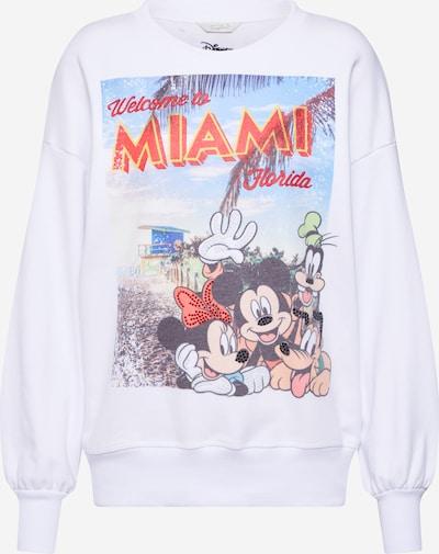 Frogbox Sweat-shirt 'Miamy Mickey' en blanc, Vue avec produit
