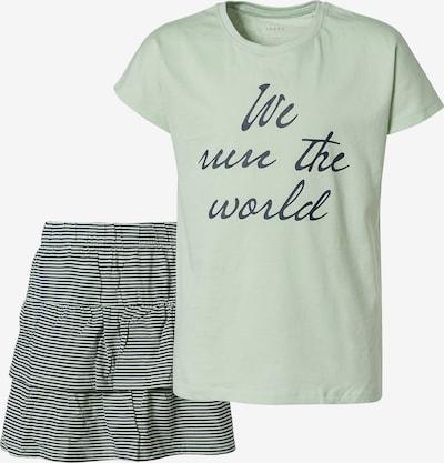 NAME IT Set T-Shirt + Rock 'Vigea' in pastellgrün / schwarz, Produktansicht