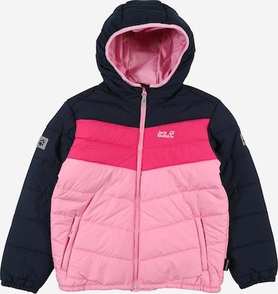 JACK WOLFSKIN Sport-Jacke 'Three Hills' in dunkelblau / pink / hellpink, Produktansicht
