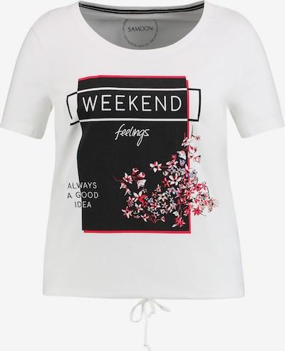 SAMOON Shirt in de kleur Rood / Zwart / Wit, Productweergave