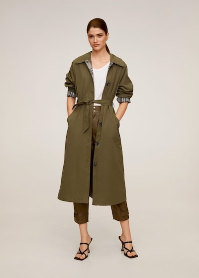 MANGO Trenchcoat 'Polonia-I' in khaki, Modelansicht