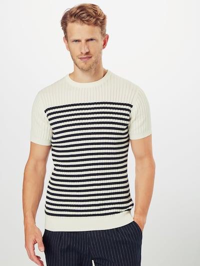 BURTON MENSWEAR LONDON Koszulka 'STRIPE YOKE TSHIRT' w kolorze kremowym: Widok z przodu