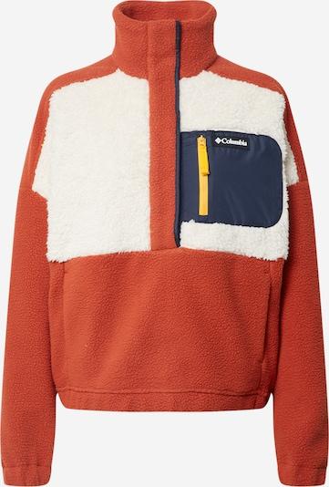 COLUMBIA Športový sveter 'Sherpa' - modrá / tmavooranžová / biela, Produkt