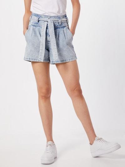 VERO MODA Bandplooi jeans 'VMKatie' in de kleur Blauw denim, Modelweergave