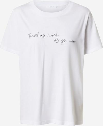 Tricou 'Safemi travel' OPUS pe alb: Privire frontală