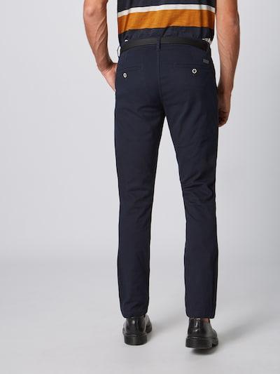 Pantaloni eleganți Lindbergh pe albastru: Privire spate