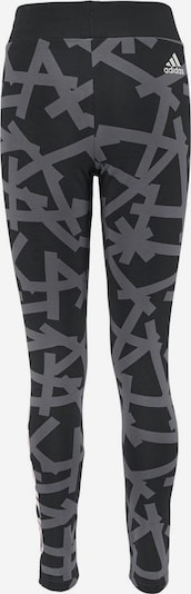 ADIDAS PERFORMANCE Leggings 'YOUNG GIRL LINEAR P TIGHT' in grau / schwarz, Produktansicht