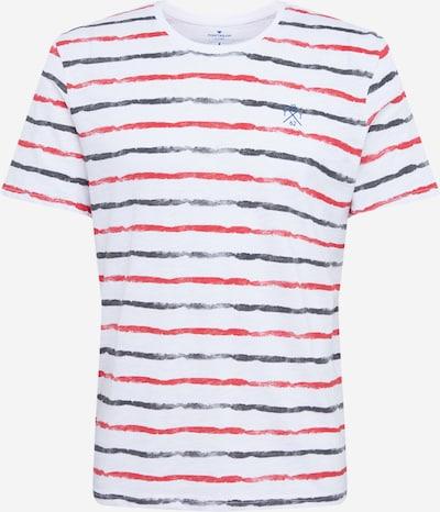 TOM TAILOR T-Shirt in tanne / rot / weiß, Produktansicht