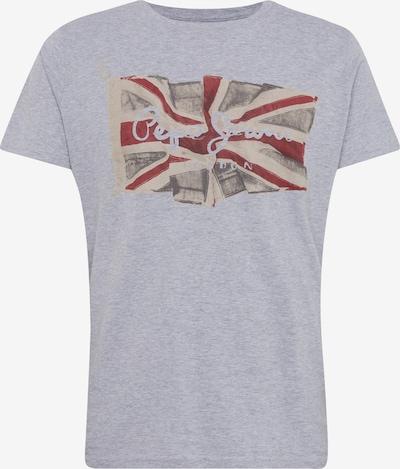 Pepe Jeans T-Shirt 'Flag' in blau / grau / rot, Produktansicht