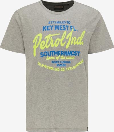 Petrol Industries T-Shirt in blau / limone / greige, Produktansicht
