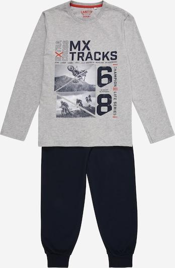 SANETTA Pyjama in nachtblau / graumeliert, Produktansicht