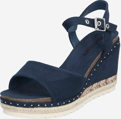 Refresh Sandale '72226' in sand / blau / silber, Produktansicht