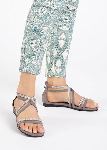 Sandale damă gri
