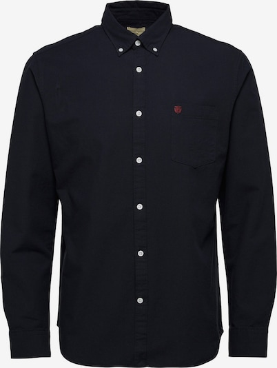 SELECTED HOMME Oxford-Langarmhemd in schwarz, Produktansicht