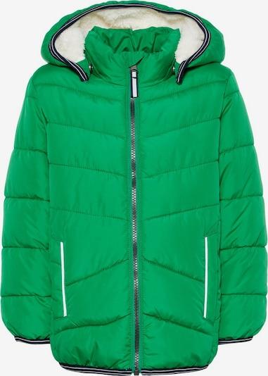 NAME IT Veste d'hiver en vert chiné, Vue avec produit