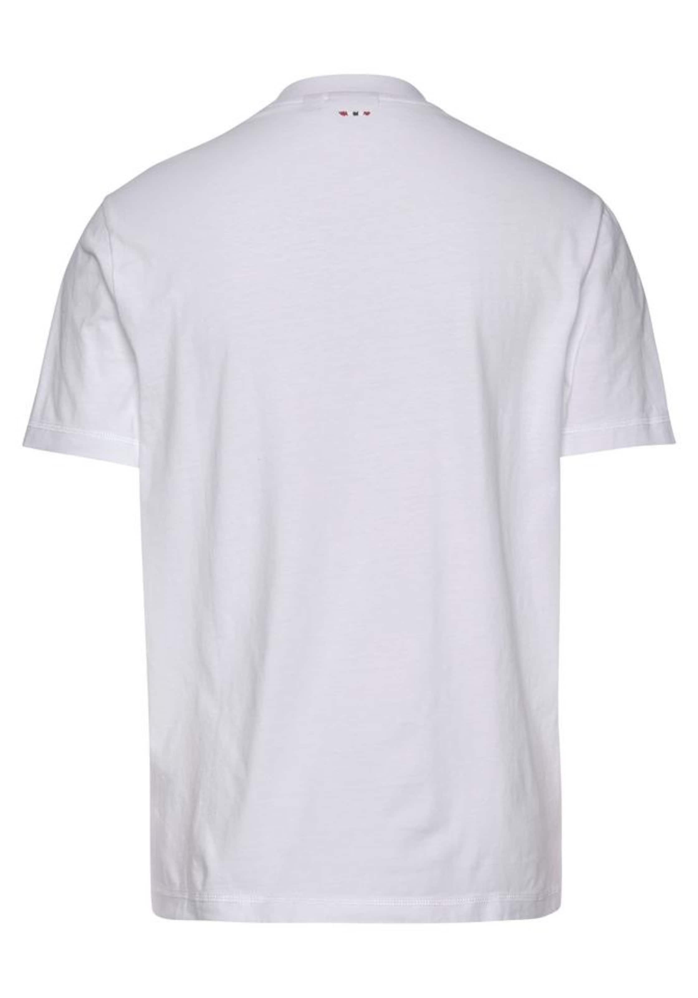NAPAPIJRI Shirt 'SOVICO' in blau / rot / weiß Logoprint 949396047