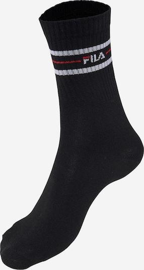 FILA Sportsocken (3 Paar) im Retro-Look in rot / schwarz / weiß, Produktansicht