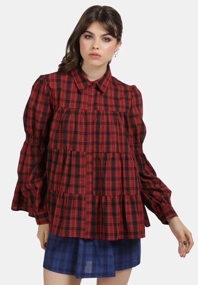 MYMO Blouse in de kleur Rood / Zwart, Modelweergave