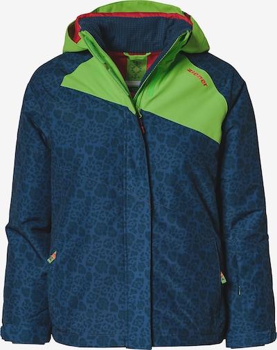 ZIENER Skijacke in blau / dunkelblau / apfel, Produktansicht