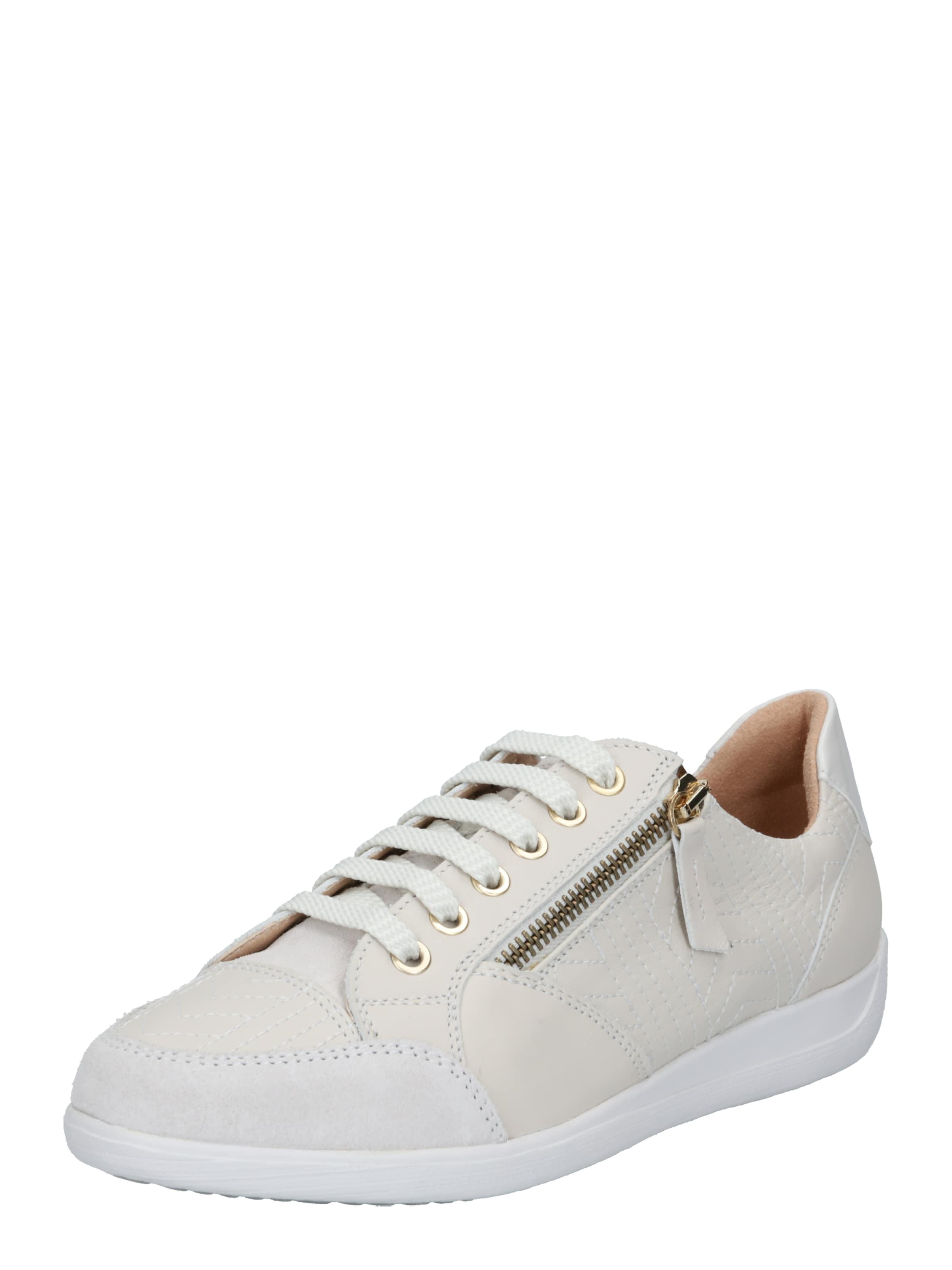 GEOX Rövid szárú edzőcipők 'Myria' fehér színben