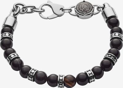 DIESEL Armband in braun / silbergrau / schwarz, Produktansicht